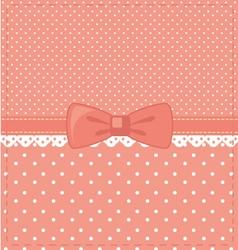 pink-polka-dots vector image