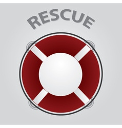 red rescue circle eps10 vector image