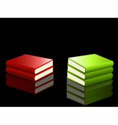 reflected books vector image vector image