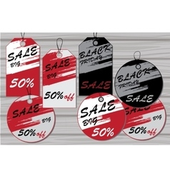 Sale tags labels for discount vector
