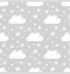 snow seamless pattern vector image vector image