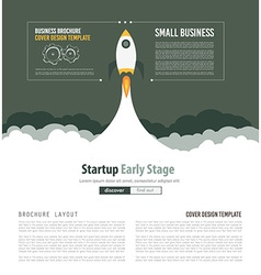 Startup landing webpage or corporate design cover vector