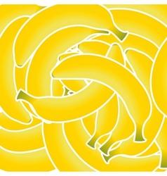 Sweet fresh yellow bananas background vector image vector image