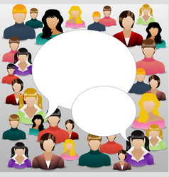 The concept of womens community or forum social vector