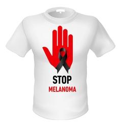 Tshirt stop melanoma vector