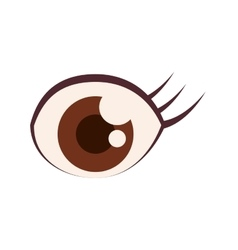 Eye female person look icon graphic vector