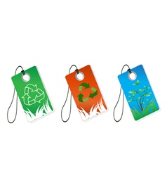 Recycling tag vector