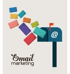 Envelope email marketing send design vector