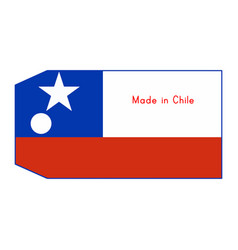 chile flag on price tag with word vector image