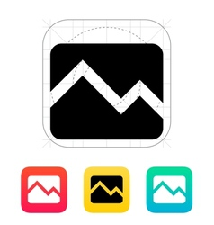Line chart down icon vector image