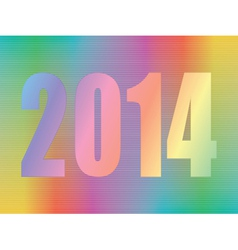 year 2014 hologram vector image