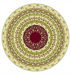 Circles floral pattern indian style vector