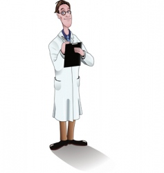 Scientist in lab coat vector