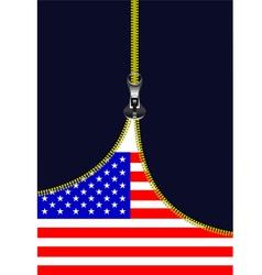 al 0722 zipper american flag vector image