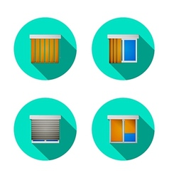 Flat icons for windows with louvers vector