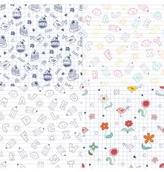Doodle patterns vector image
