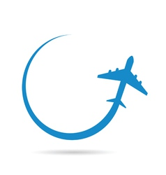 Airplane blue vector