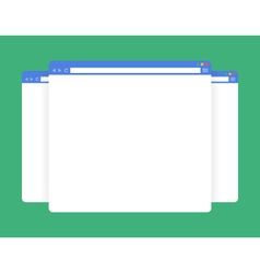 Flat blank browser windows vector