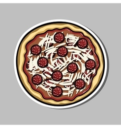 Pizzasticker vector