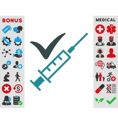 Done vaccination icon vector