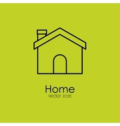 Home isolated icon design vector
