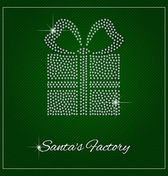 Rhinestone holiday season template vector