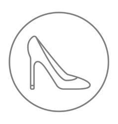 Heel shoe line icon vector
