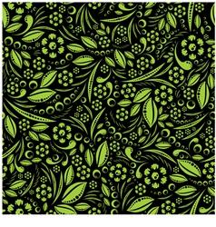 Seamless wallpaper green vegetation repeating vector