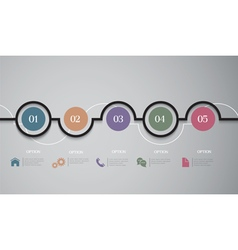 Infographics options round banners vector
