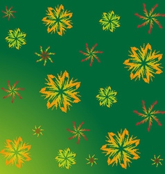 A pattern of maple leaves vector image