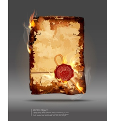 Burning parchment vector