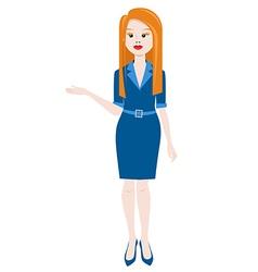 Business woman presentation vector