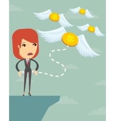 Businesswoman has no money vector