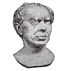 Bust of marius was a roman general vintage vector
