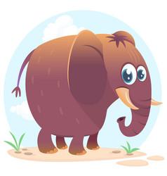 Cartoon cute elephant vector