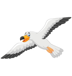 Cartoon smiling seagull vector image vector image