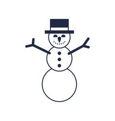 Christmas snowman isolated icon vector