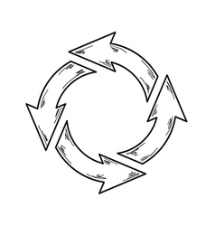 Circle arrows vector