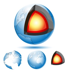 Core of the planet earth vector