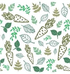 eco seamless hand drawn pattern Bio food organic vector image