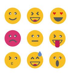 Emoticon emoji set vector