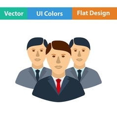 Flat design icon of business team vector