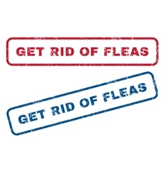 Get rid of fleas rubber stamps vector