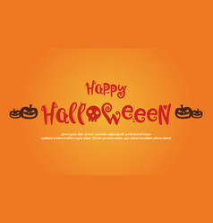 Happy halloween greeting card style vector