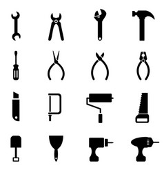 hardware tool icons vector image