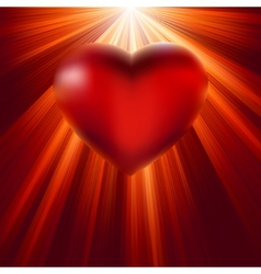 Heart shining with light of love EPS 8 vector image vector image
