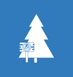 Icon fir-tree with plaque vector