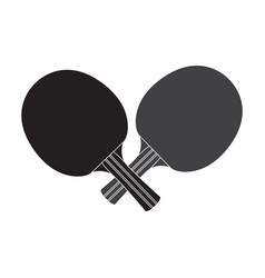 Isolated ping pong rackets vector