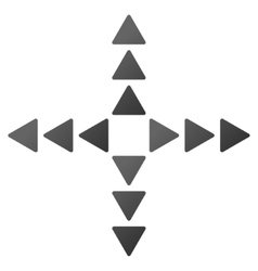Outside direction gradient icon vector