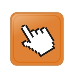Pixelated hand cursor icon image vector